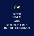 KEEP CALM AND PUT THE LIME IN THE COCONUT - Personalised Poster large