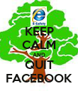 KEEP CALM AND QUIT FACEBOOK - Personalised Poster large