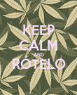 KEEP CALM AND RÓTELO  - Personalised Poster large