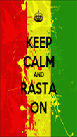 KEEP CALM AND RASTA ON - Personalised Poster large