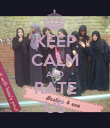 KEEP CALM AND RATE US - Personalised Poster large
