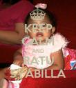 KEEP CALM AND RATU SYABILLA - Personalised Poster large
