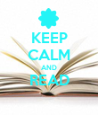 KEEP CALM AND READ  - Personalised Poster large