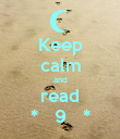 Keep calm and read *   9   * - Personalised Poster large