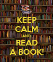 KEEP CALM AND READ A BOOK! - Personalised Poster large