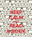 KEEP CALM AND READ A BOOK - Personalised Poster large