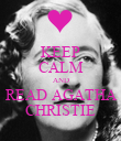 KEEP CALM AND READ AGATHA CHRISTIE - Personalised Poster large