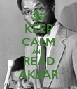 KEEP CALM AND READ AKBAR - Personalised Poster large