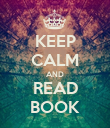 KEEP CALM AND READ BOOK - Personalised Poster large