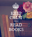 KEEP CALM AND READ BOOKS - Personalised Poster large
