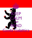 KEEP CALM AND READ Guida Galattica - Personalised Poster large