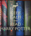 KEEP CALM AND READ HARRY POTTER - Personalised Poster large
