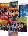 KEEP CALM AND READ HP BOOKS - Personalised Poster large