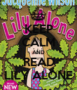 KEEP CALM AND READ LILY ALONE - Personalised Poster large