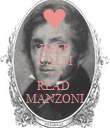 KEEP CALM AND READ  MANZONI - Personalised Poster large