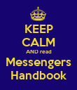 KEEP CALM AND read Messengers Handbook - Personalised Poster large