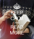KEEP CALM AND READ MORE - Personalised Poster large