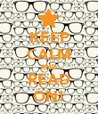KEEP CALM AND READ ON! - Personalised Poster large