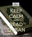 KEEP CALM AND READ QURAN - Personalised Poster large
