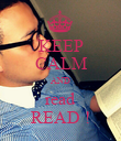 KEEP CALM AND read READ ! - Personalised Poster large