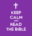 KEEP CALM AND READ THE BIBLE - Personalised Poster large