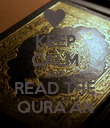 KEEP CALM AND READ THE QURA'AN - Personalised Poster large