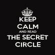 KEEP CALM AND READ THE SECRET CIRCLE - Personalised Poster large