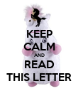 KEEP CALM AND READ THIS LETTER - Personalised Poster large