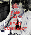 KEEP CALM AND READ VONNEGUT - Personalised Poster large