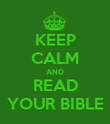 KEEP CALM AND READ YOUR BIBLE - Personalised Poster large