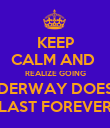 KEEP CALM AND  REALIZE GOING UNDERWAY DOESN'T LAST FOREVER - Personalised Poster large