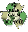 KEEP CALM AND RECYCLE  - Personalised Poster large