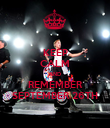 KEEP CALM AND REMEMBER SEPTEMBER 26TH - Personalised Poster large
