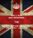 "KEEP CALM AND REMEMBER THE ""SIX VC's BEFORE BREAKFAST"" GALLIPOLI - 25.4.1915 - Personalised Poster large"