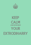 KEEP CALM AND REMEMBER YOUR EXTRODIHARRY - Personalised Poster large