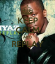 KEEP CALM AND REPLAY  - Personalised Poster large