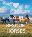 KEEP CALM AND RESCUE  HORSES - Personalised Poster large