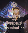 Keep  Calm  And Respect Jemal  - Personalised Poster large