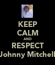 KEEP CALM AND RESPECT Johnny Mitchell - Personalised Poster large