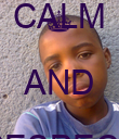KEEP CALM AND RESPECT KATLEGO - Personalised Poster large