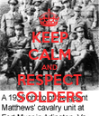 KEEP CALM AND RESPECT SOLDERS - Personalised Poster large