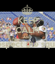KEEP CALM AND Respect the squad  - Personalised Poster large