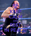 KEEP CALM AND REST IN PEACE! - Personalised Poster large