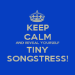 KEEP CALM AND REVEAL YOURSELF TINY SONGSTRESS! - Personalised Poster large