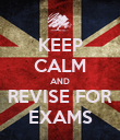 KEEP CALM AND REVISE FOR EXAMS - Personalised Poster large