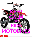 KEEP CALM AND RIDE MOTOBIKES - Personalised Poster large