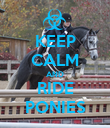 KEEP CALM AND RIDE PONIES - Personalised Poster large