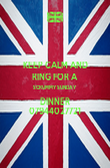 KEEP CALM AND RING FOR A  SCRUMMY SUNDAY DINNER 07944027721 - Personalised Poster large