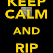 KEEP CALM AND RIP grandaddy - Personalised Poster large