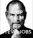 KEEP CALM AND RIP STEVE JOBS - Personalised Poster large